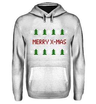 Merry X-Mas Strickpullover Optik ugly