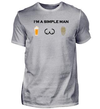simple man boobs bier beer titten Bart Haare beard