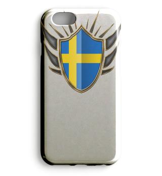 Schweden-Sweden Wappen Flagge 014
