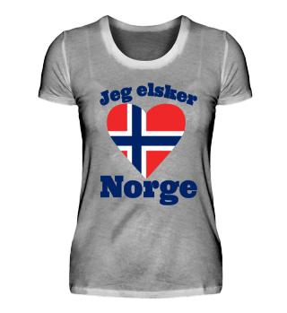 Jeg elsker Norge - Norwegen Flagge Shirt