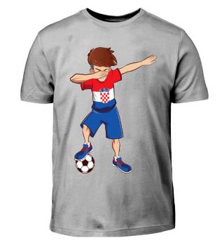Dabbing Kroatischer Fussballer T-Shirt