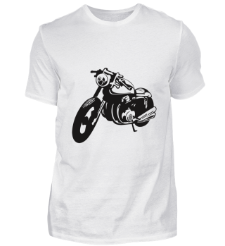 Oldschool Cafe Racer Oldtimer Motorrad