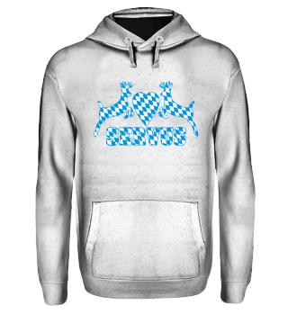 BAYERN SERVUS - Hirsche Herz Shirt