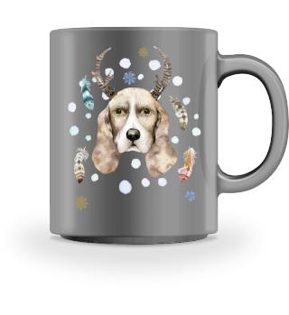 ☛ Merry Christmas · Boho Dog #3CPT