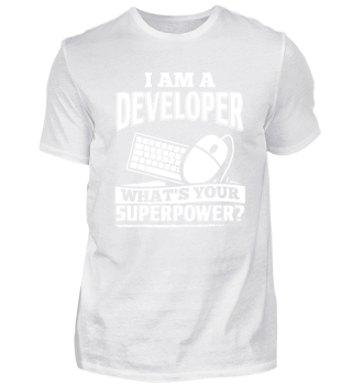 Developer Programmer Shirt I Am A