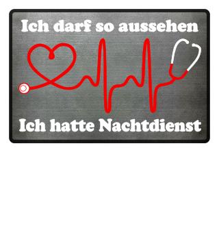 Krankenschwester-Fußmatte | ICH HATTE NACHTDIENST (ideales Geschenk)