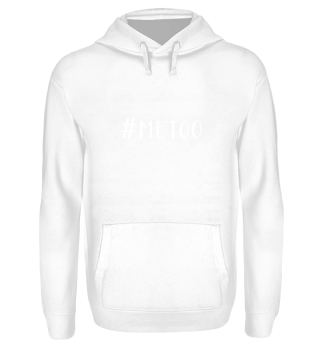 ♀ ♂ Message Hashtag ME TOO - white