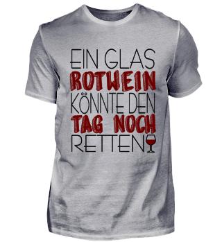 T-Shirt Tag retten Rotwein