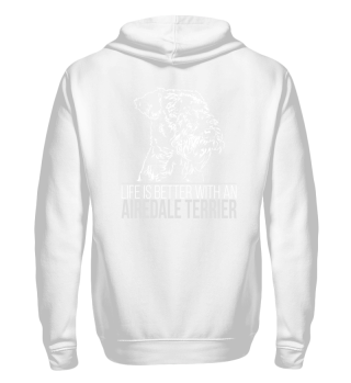 Sweatjacke AIREDALE TERRIER Life better