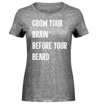 Funny Beard and Brain Shirt