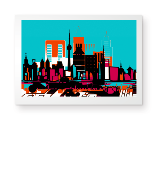 ★ Modern Architecture Skyline I Poster