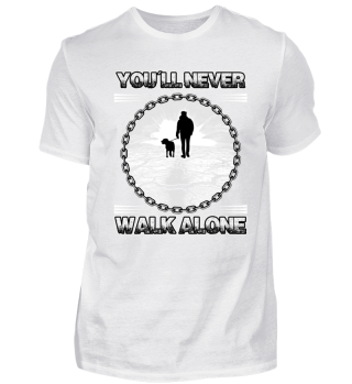 Hundeshirt You´ll never walk alone