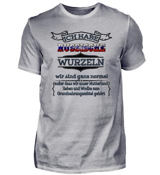 Ich habe russische Wurzeln - Russland Shirt