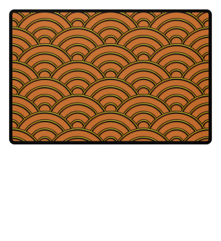 Geometric half-circles waves gold orange