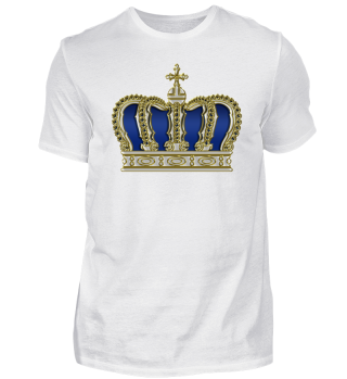 Royal Cross Crown - Gold White Blue