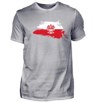Polen T-Shirt Geschenk Adler Fahne