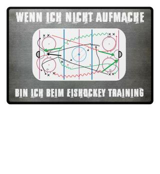 Bin beim Eishockey Training!