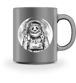 Astronaut Panda Bär Mond Weltall Space