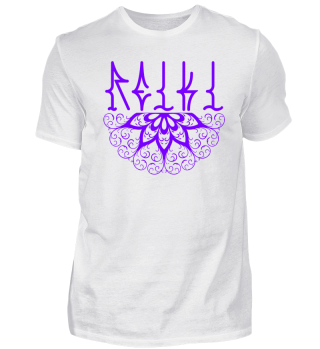 ♥ REIKI - Retro Heart Mandala - purple