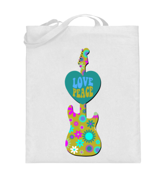 Flower Power Retro - Love Peace Guitar 3