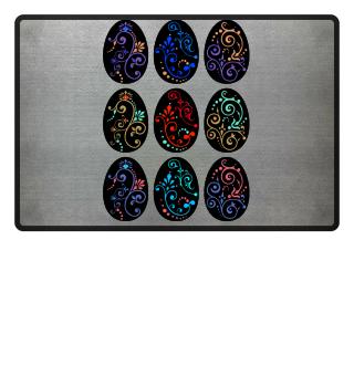 ★ Nine Boho Ornaments Easter Eggs 4