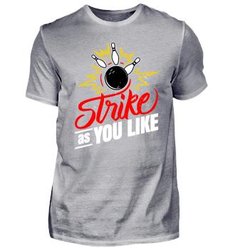 Bowler Shirt für Bowling Strike Künstler