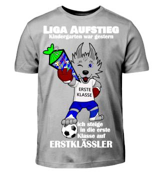 Einschulung Erstklassig Junge Fussball Fan