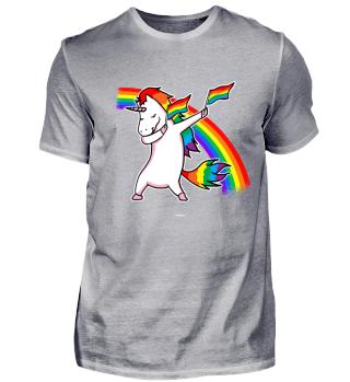 Einhorn LGBT Flagge Dab