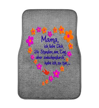 ★ Mama Ich Liebe Dich - Blüten Herz 2a