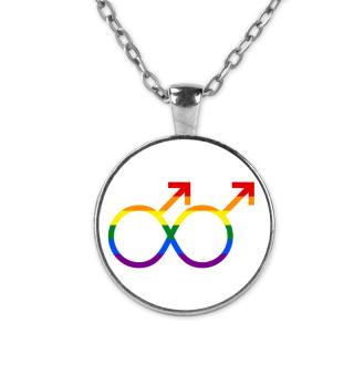 Gay Gender Lemniskate Rainbow Flag
