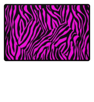 ♥ Zebra Stripes Art Black Pink