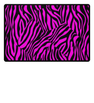 ♥ Zebra Stripes Art Black Pink