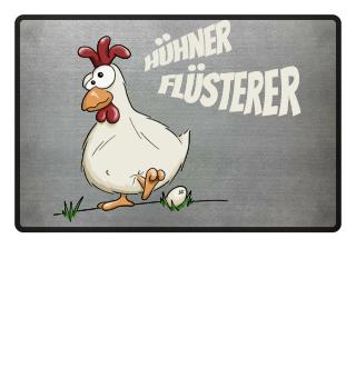 verrücktes Huhn Flüsterer Bauer Landwirt