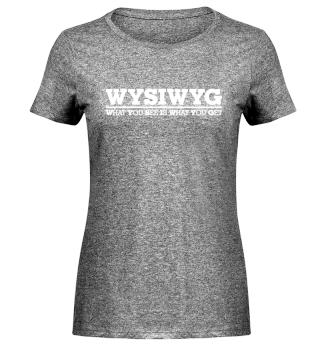 Acronym - WYSIWYG - white line
