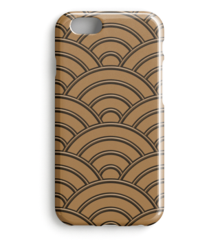 Geometric half-circles waves brown I