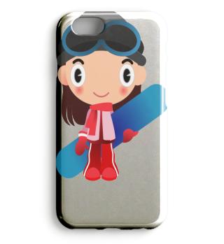 Snowboard-Girl Mädchen Ski Motiv