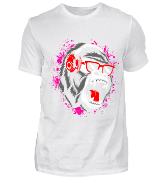 Angry Gorilla Böse Musik Music Geschenk