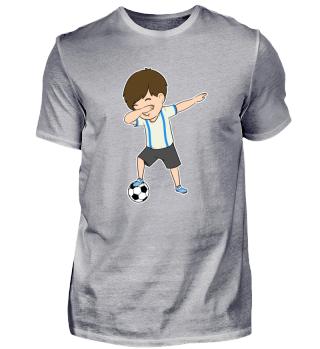 Dabbing Football Soccer Player Boy