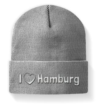 I love Hamburg - Mütze mit Stickerei