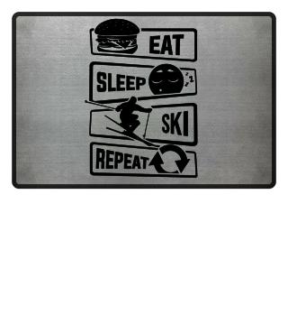 Eat Sleep Ski Repeat - Winter Snow