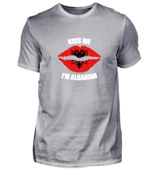 ALBANIAN KISS Geschenkidee Motiv Design