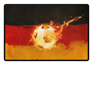 The Fire Of Germanys Soccer Fußmatte