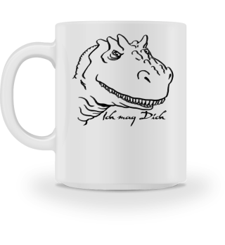 Tyrannosaurus Mag Dich - schwarz
