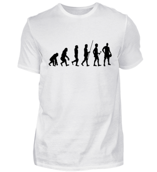 Evolution zum Basketballer - T-Shirt