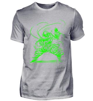 magic kung-fu Shaolin Kungfu Master mace / Fantasy abstract fighter figure