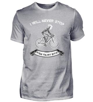 Funny Bicycle Skeleton Tshirt