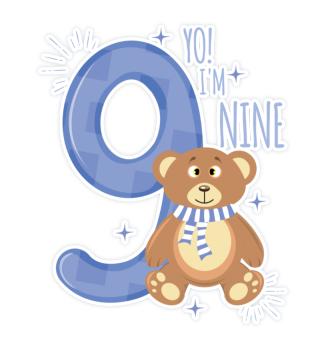 9. birthday bear Teddy
