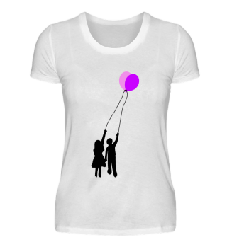 Balloons Heart T-Shirt WOMEN