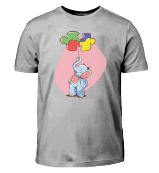 Cute kids Shirt elefant puzzel balloon