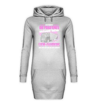 LKW Hoodie Kleid Frau LKW-Fahrer